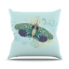Deco by Catherine Holcombe Moth Throw Pillow Size: 18'' H x 18'' W x 1