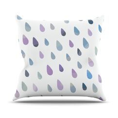 Opal Drops by Daisy Beatrice Peach Throw Pillow Size: 20'' H x 20'' W x 1