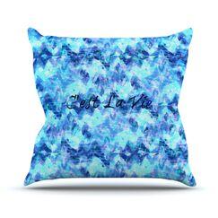 C'est La Vie Revisited by Ebi Emporium Throw Pillow Size: 26