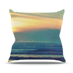 Go Somewhere by Robin Dickinson Throw Pillow Size: 20