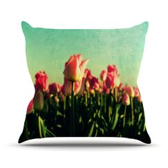 How Does Your Garden Grow by Robin Dickinson Flowers Throw Pillow Size: 16