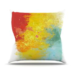 Medley by Oriana Cordero Colorful Paint Throw Pillow Size: 20