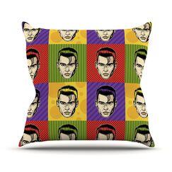 Johnny Depop by Roberlan Pop Art Throw Pillow Size: 16