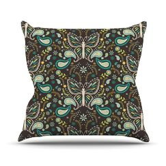 Butterfly Garden by Suzie Tremel Throw Pillow Size: 18
