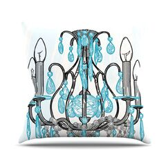 Chandelier by Sam Posnick Throw Pillow Size: 26