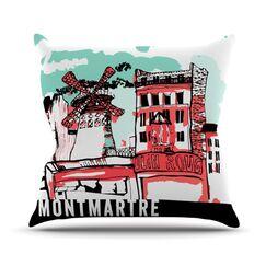 Montmartre Throw Pillow Size: 26