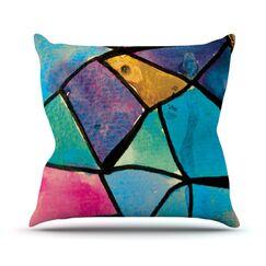 Stain Glass 2 Throw Pillow Size: 18