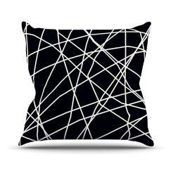Paucina by Trebam Crazy Lines Throw Pillow Size: 16