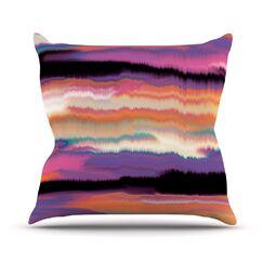 Artika Throw Pillow Color: Sunset, Size: 26'' H x 26'' W