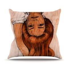 Girl Throw Pillow Size: 20