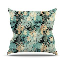 Dead Head Party Throw Pillow Size: 26