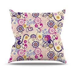 Arabesque Throw Pillow Size: 20