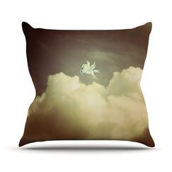 Pegasus Throw Pillow Size: 18