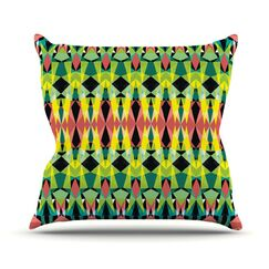 Triangle Visions Throw Pillow Size: 26