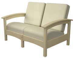 Rockport Club Deep Seating Sofa with Cushions Color: Sand Castle / Bird's Eye