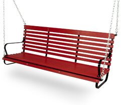 Vintage Porch Swing Color: Black/Sunset Red