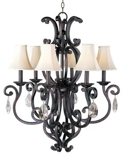 Wiltse Modern 6-Light Shaded Chandelier Shades: Yes