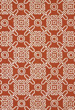 Maui Hand-Woven Terracotta Indoor/Outdoor Area Rug Rug Size: 5' x 7'6