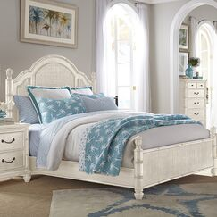 Isle of Palms Panel Bed Size: King, Color: Antique White