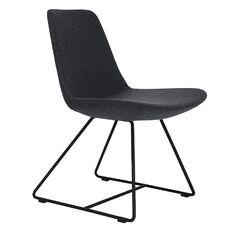 Fechteler Upholstered Dining Chair Upholstery Type / Color: Wool - Dark Gray