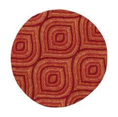 Donny Osmond Home Escape Handmade Red Area Rug Rug Size: Round 7'6