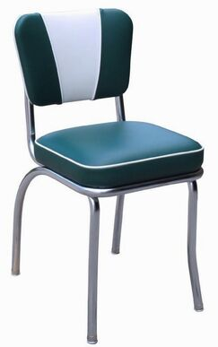 Retro Home Side Chair Upholstery Color: Green