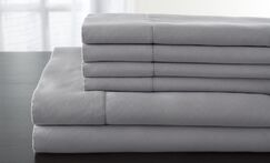 Solid 1200 Thread Count Sheet Set Color: Silver, Size: King