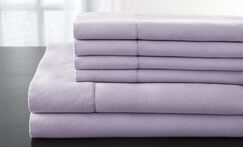Solid 1200 Thread Count Sheet Set Color: Lavender, Size: California King