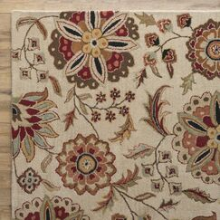 Jasmine Parchment Tufted Wool Area Rug Rug Size: Rectangle 9' x 12'