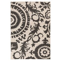 Hattie Parchment & Pewter Indoor/Outdoor Rug Rug Size: Rectangle 5'3