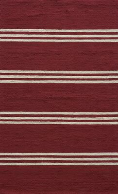 Dreadnought Hand-Hooked Red Area Rug Rug Size: Rectangle 3'9