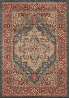 Othello Red Area Rug Rug Size: Rectangle 7'10