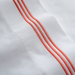 Stowe Sheet Set Color: Coral, Size: Queen