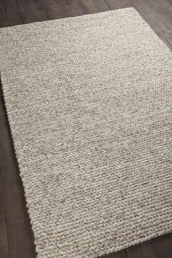 Tilby Hand-Woven Beige Area Rug Size: 7'9