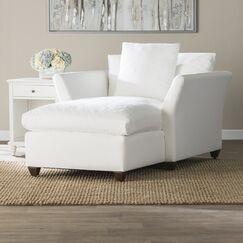 Wollaton Chaise Lounge Upholstery: Oakley Ivory