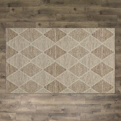 Jessup Hand-Woven Cotton Beige Area Rug Rug Size: Rectangle 2'3
