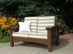 Days End Deep Seating Sofa with Cushion Finish: Chocolate Brown, Color: Dolce Oasis