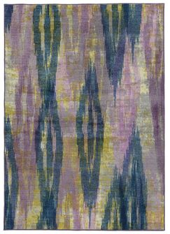 Prismatic Abstract Purple/Blue Area Rug Rug Size: Rectangle 5'3