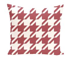 Houndstooth Geometric Print Outdoor Throw Pillow Size: 20
