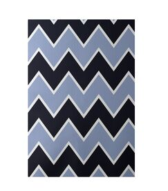 Chevron Blue Indoor/Outdoor Area Rug Rug Size: Rectangle 3' x 5'