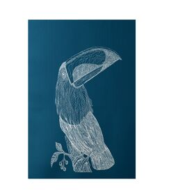 Bird Print Teal Indoor/Outdoor Area Rug Rug Size: Rectangle 4' x 6'