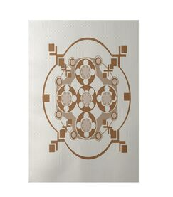 Geometric Off White Indoor/Outdoor Area Rug Rug Size: Rectangle 3' x 5'