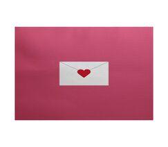 Valentine's Day Pink Indoor/Outdoor Area Rug Rug Size: Rectangle 3' x 5'