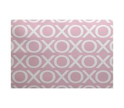 Valentine's Day Pale Pink Indoor/Outdoor Area Rug Rug Size: Rectangle 2' x 3'
