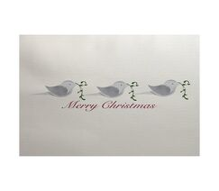 Merry Christmas Gray Indoor/Outdoor Area Rug Rug Size: Rectangle 3' x 5'