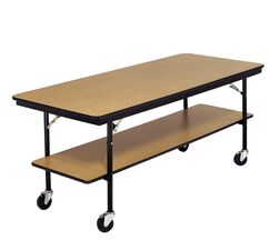 Training Table with Wheels Size: 30