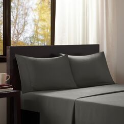 Dima Solid Sheet Set Size: Queen, Color: Charcoal