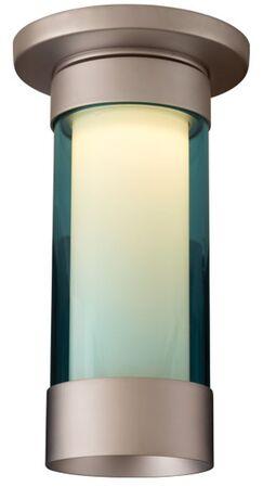 Silva 1-Light Flush Mount Color: Matte Chrome, Shade Color: Turquoise