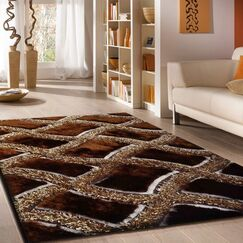 Roselli Hand Tufted Brown Area Rug Rug Size: Rectangle 5' x 7'