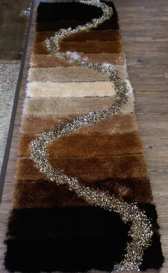 Hand-Tufted Brown/Beige Area Rug